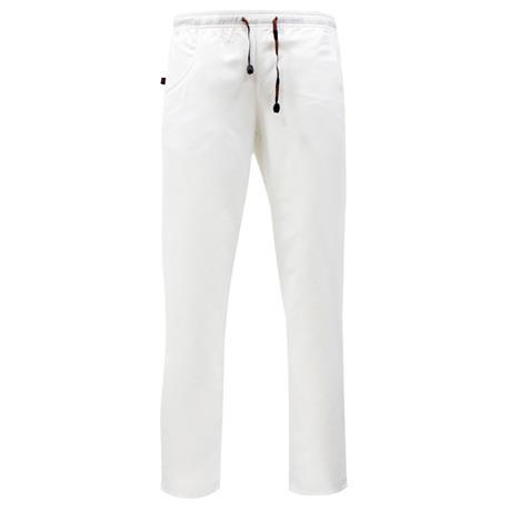 Pantalón Sanitario 100% Microfibra Poliéster Repelente Agua Anti-Olor talla L Color 13 Blanco