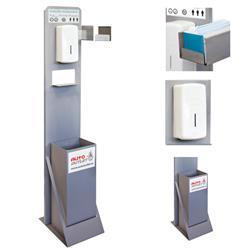 Punto Higiénico Estación Higienizante con Dispensador Manual, Papelera y Soporte Cajetín