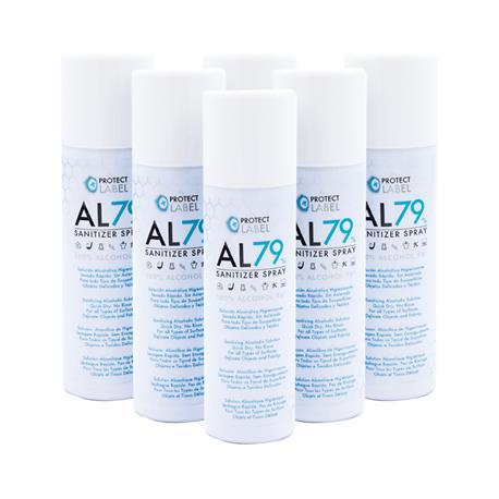 Hidroalcohol Spray 6 x 500 ml. Higienizante manos y superficies 70% Alcohol Aerosol Hidroalcohólico