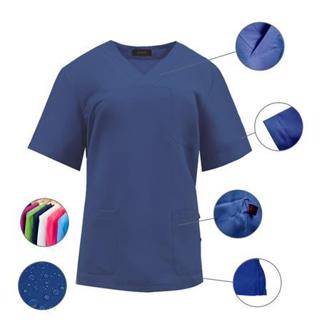 Casaca Sanitario 100% Microfibra Poliéster Repelente Agua Anti-Olor talla M Color 04 Marino