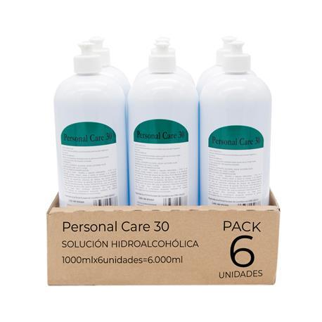 Loción Hidroalcohol Higienizante Manos 6 x 1000ml 70% Alcohol Ideal Pulverizadores, Total 6 Litros