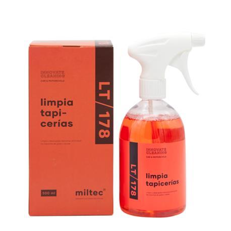 Miltec LT/178 Limpia Tapicerias 500ml. Limpiador Desengrasante Quitamanchas de Grasa y Aceite