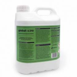 GLOBAL -C210 Desinfectante Virucida Bactericida Fungicida Profesional Superficies y Manos, 5 Litros
