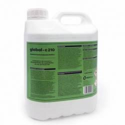GLOBAL -C210 Desinfectante Virucida Bactericida Fungicida Profesional Superficies y Manos, 5 Litros