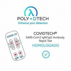 Caja 25 Poly-Dtech kits COVIDTECH tests rápidos para detección de anticuerpos IgM/IgG para SARS-C