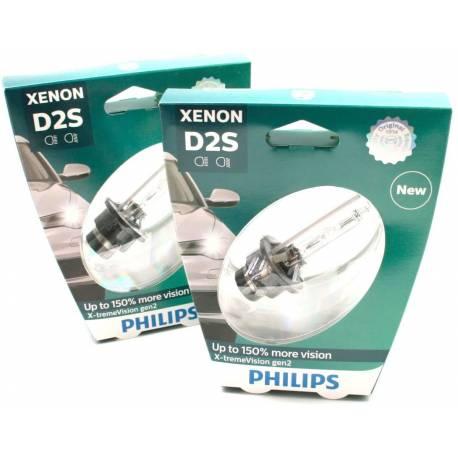 PHILIPS 85122XV2S1 Xenon X-tremeVision gen2 D2S 85V, 35W Lámpara de xenón para luces principales de coche, Set de 2 bombillas