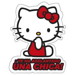 Adhesivo Cristal Una Chica Hello Kitty