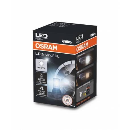OSRAM LEDriving SL, PS19W, blanco 6000K, lámpara de señalización LED, solo uso todoterreno, no ECE, caja plegable (1 lámpara)