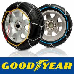 GODKN080 - Talla 80. Juego de 2 cadenas nieve coche metálicas Good Year eslabón metálico 9 mm.TUV.