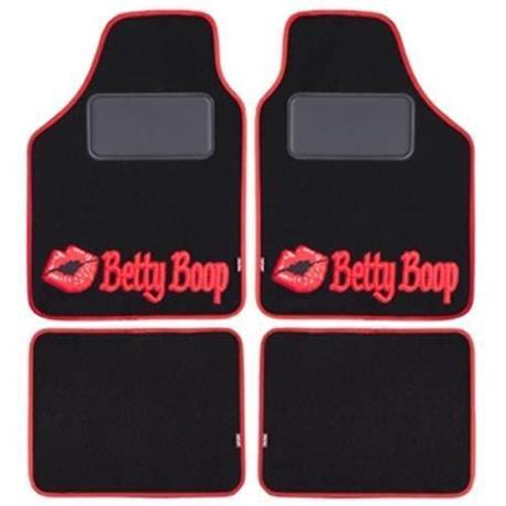 Juego alfombras moqueta coche universal Betty Boop negra.