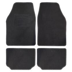 Juego 4 alfombras moqueta clasic NEGRA para el automóvil Universal BC Corona