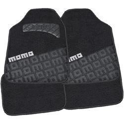 CM008BG - Juego 4 alfombras universales moqueta logo gris MOMO 008