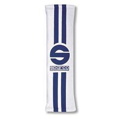 0109077BIAZ Juego de 2 almohadillas Sparco 0109077Biaz Blanco Azul