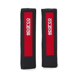 SPC1203 - Juego 2 almohadillas cinturón Sparco SPC rojo.-