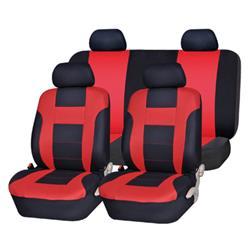 Juego de fundas de asiento universales rojo y negro Bari