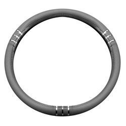 Funda para el volante del coche chromeline gris diámetros 37-39 BC Corona