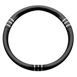 Funda para el volante del coche chromeline negro diámetros 37-39 BC Corona