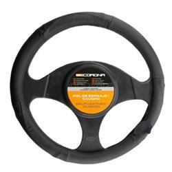 Funda para el volante del coche piel negra BC Corona 37-39