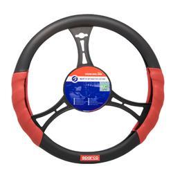 Funda volante Sparco SPC rojo negro diámetros 37-39 cm