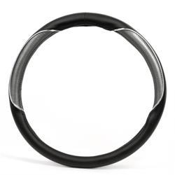 Funda para el volante del coche negro/cromo/Supreme. BC Corona