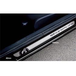 Jgo. Umbrales de puerta aluminio autoadhesivos 45x4 cm Sparco spc