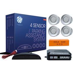 MT-CP4S - Sensor de aparcamiento CP4 LED + buzzer - plateado