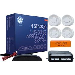 MT-CP4W - Sensor de aparcamiento CP4 DISPLAY LED + 4 blancoS
