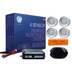 MT-CP7S - Sensor de aparcamiento CP7 buzzer - plateado