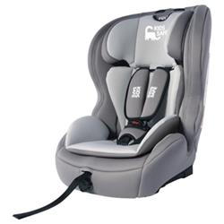 Silla Infantil Kids Safe con Isofix Grupos I/II/III E4-44R-044314, Gris