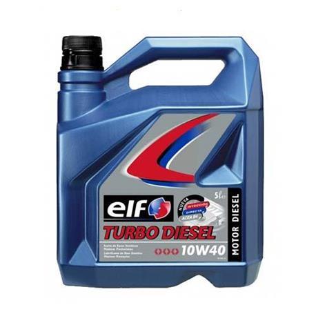aceite lubricante coche elf turbo diesel 10w40 5 litros. Black Bedroom Furniture Sets. Home Design Ideas