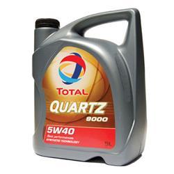 Aceite Lubricante para coche Total Quartz 9000 5W40 5 litros.