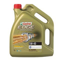 Aceite lubricante para coche Castrol Edge Turbo Diesel 5W40 5 litros.