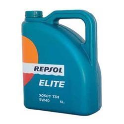 Aceite Lubricante coche Repsol Elite TDI 50501 5W40 5 litros.