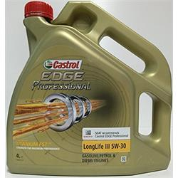 Aceite Lubricante coche Castrol Edge Professional LongLife III 5W30 4 litros.