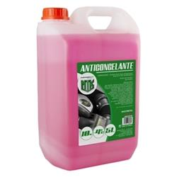 Anticongelante 5l 10% rosa Motorkit con etilenglicol, no nocivo
