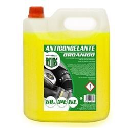 Anticongelante 5l 50% amarillo Motorkit con etilenglicol, no nocivo.