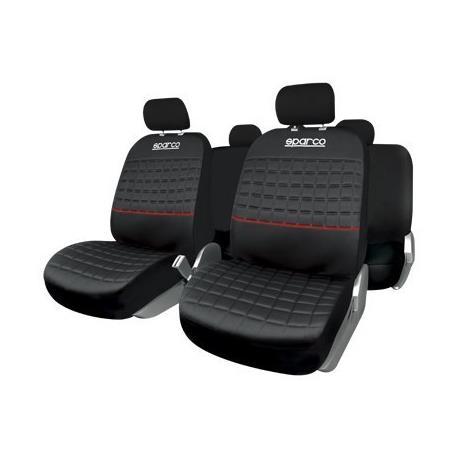 SPC1042RS - Juego de fundas de asiento Sparco Lazio Univesales, color Rojo