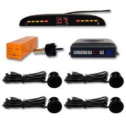 Sensor aparcamiento 4 sensores Black y pantalla digital.