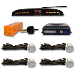 Sensor aparcamiento 4 sensores White y pantalla digital.