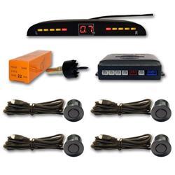 Sensor aparcamiento 4 sensores Gris mar y pantalla digital.