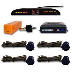 Sensor aparcamiento 4 sensores Azul Marino y pantalla digital.