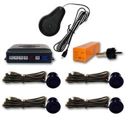 Sensor aparcamiento 4 sensores Azul Turquesa oscuro y pantalla digital.