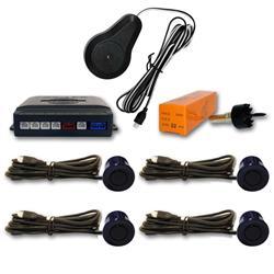 Sensor aparcamiento 4 sensores Azul Marino oscuro y pantalla digital.