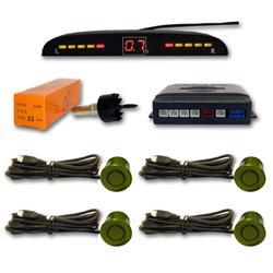 Sensor aparcamiento 4 sensores Dorado verdoso y pantalla digital