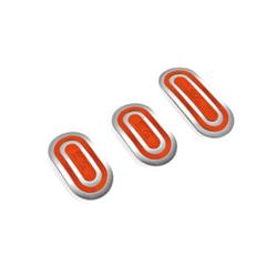 OPC04040003 - Juego para el coche de 3 pedales urban rojo Sparco SPC-