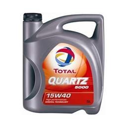 Aceite lubricante para coche Total Quartz 5000 15W40 5 litros.