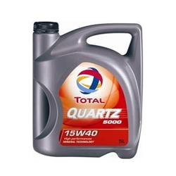 Aceite lubricante para coche Total Quartz 5000 Diesel 15W40 5 litros.