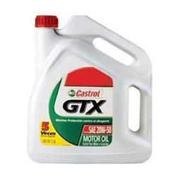 Aceite lubricante para coche Castrol GTX 20W50 5 litros.