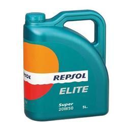 Aceite lubricante para coche Repsol Élite Súper 20W50 5 litros.