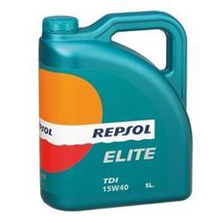 Aceite lubricante para coche Repsol Élite TDI 15W40 5 litros.